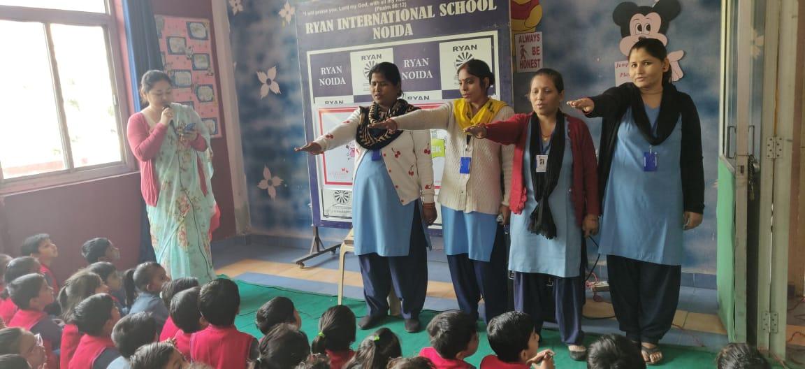 Ryan International School Staff taking Pledge